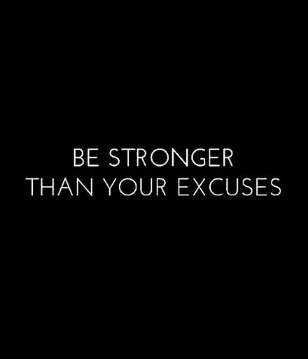 #NoExcuses                                                                                                                                                                                 More