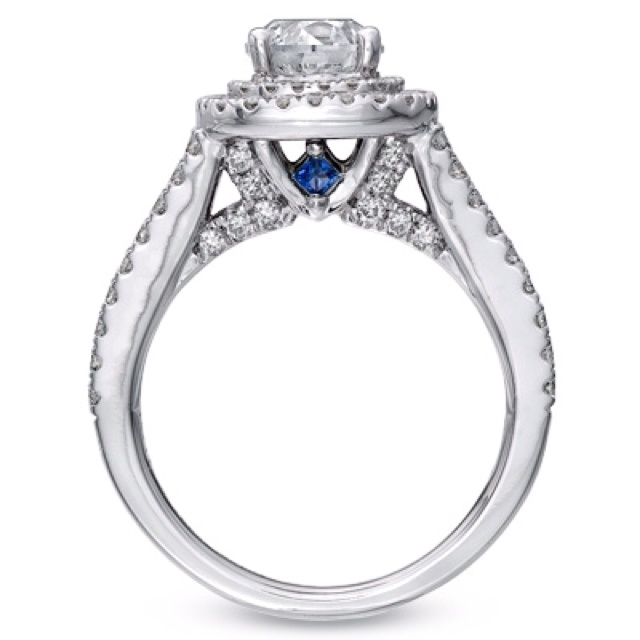 vera wang engagement ring love the blue sapphires - Vera Wang Wedding Ring