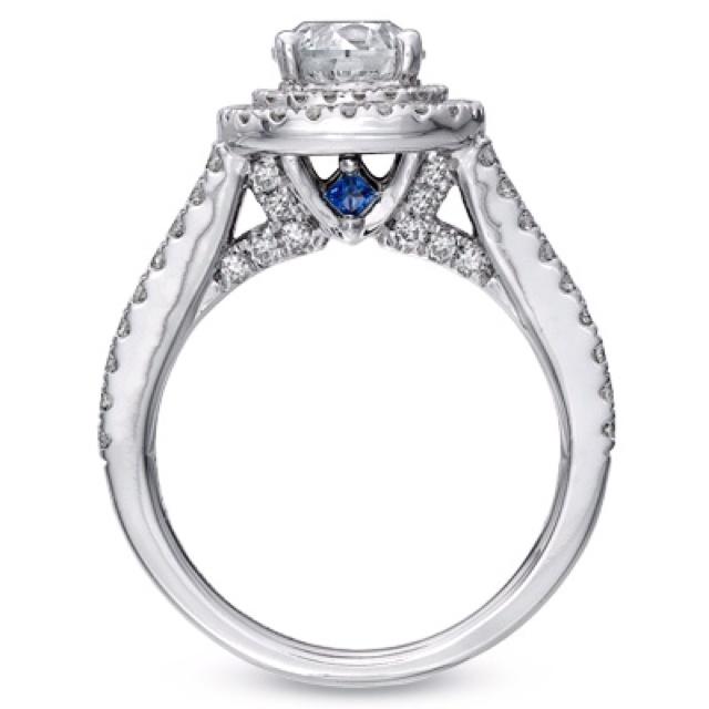 vera wang engagement ring love the blue sapphires - Vera Wang Wedding Ring