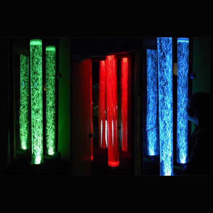 DIY sensory room including cheap bubble tubes