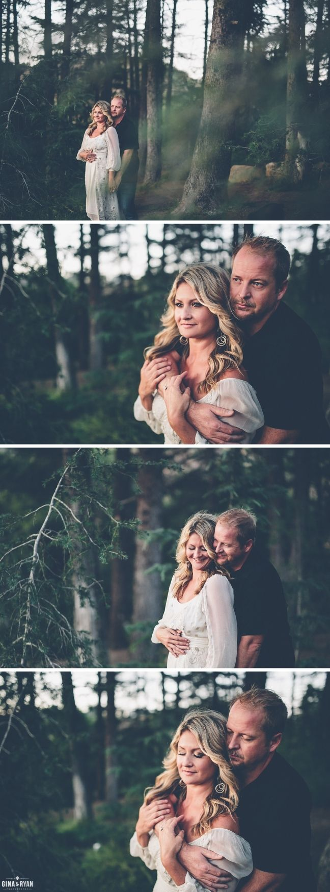 Woodsy Engagement Photos | Bohemian Bride | Whimsical Engagement Session | Forrest Engagement | Los Angeles Engagement Photography | www.GinaAndRyan.com