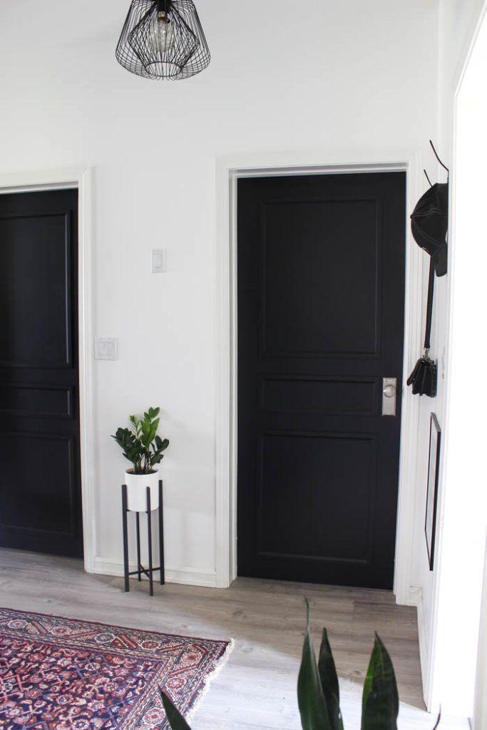 A Brand New Interior Door Design To Complete Our Modern Hallway Love Create Celebrate Door Design Interior Black Interior Doors Doors Interior Modern