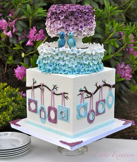 Pastel con Aves