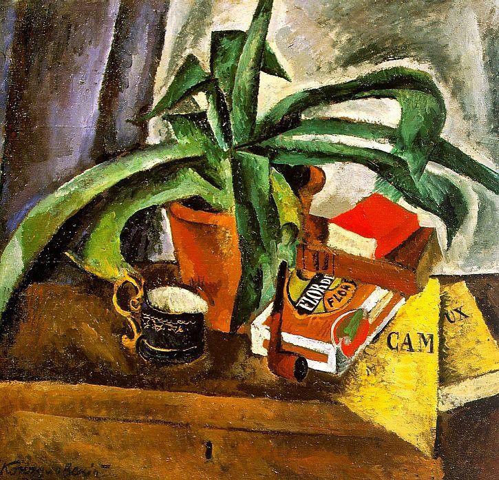 Konchalovsky, Pyotr (1876-1956) - 1916 Agave (Tretyakov Gallery, Moscow, Russia) | by RasMarley
