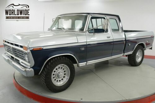 F250 Short Bed For Sale >> 1975 Ford F250 Rare Supercab Short Bed Pickup Truc Old