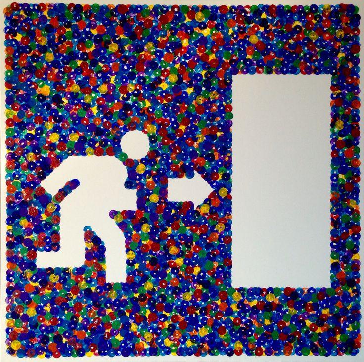 """Via d'uscita"" acrilico su tela 60x60 (2016)"