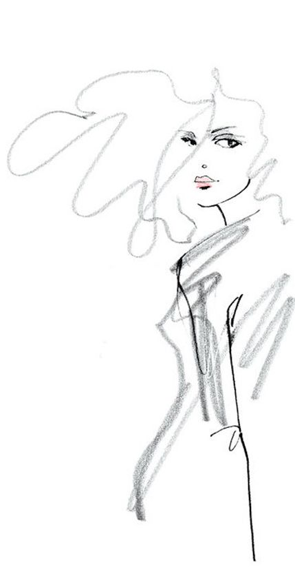 Fashion illustration by Lovisa Burfitt, Swedish, France-based artist.