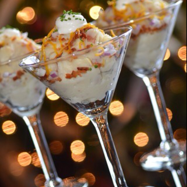 The Hostesses Made A Mash Tini Potato Bar For My Sisters Shower This Weekend