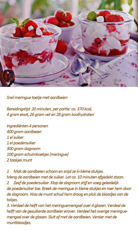 Snel meringuetoetje met aardbeien - Foodies juni 2015