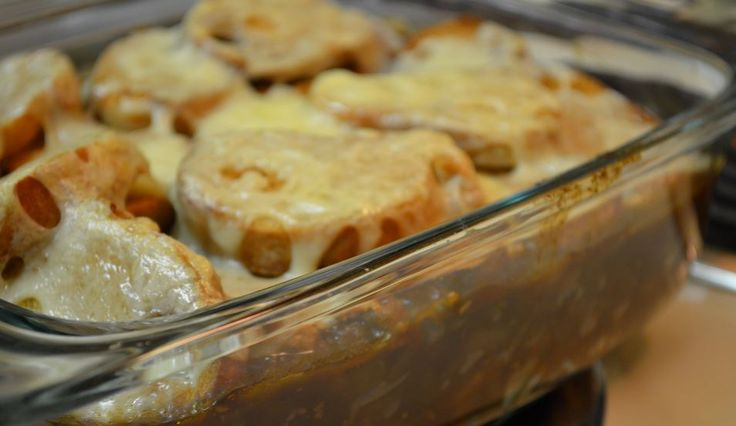 A casserole version of traditional French Onion Soup, this dish is a real winner. Each serving is very big, and you get all the delicious flavors that are expected. A perfect, low calorie recipe to