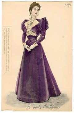 1896 women's fashion plate