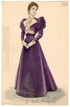 1896 women's fashion plate