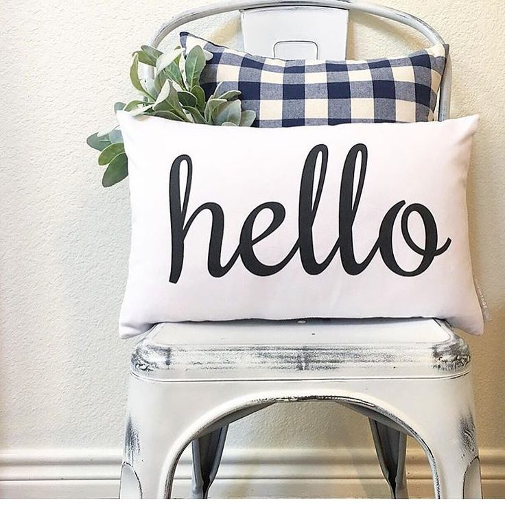 One of our favorite classic pillows!! I especially love it with that plaid! // sovintagechic.com [hello pillow]