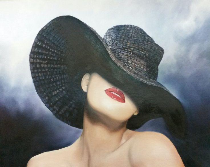 Mysterious.   95 x 78cm.  Oil on canvas