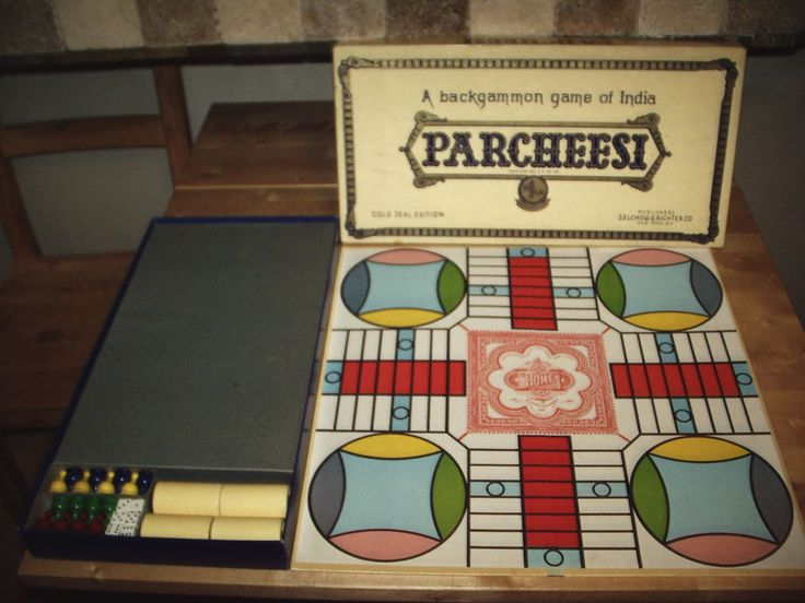 details about parcheesi backgammon game of india vtg 2 gold seal edition usa complete - Backgammon Game