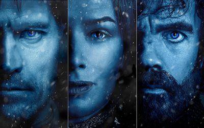 壁紙をダウンロードする ゲームを描, 曲の氷と火災, 2017, シーズン7, Cersei Lannister, Tyrion Lannister, Jaime Lannister