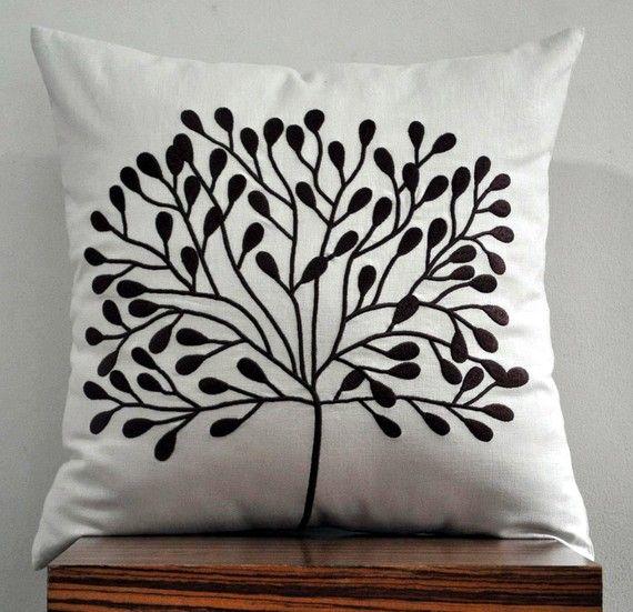 Borneo Tree Throw Pillow Cover  18 x 18 Decorative by KainKain, $22.00