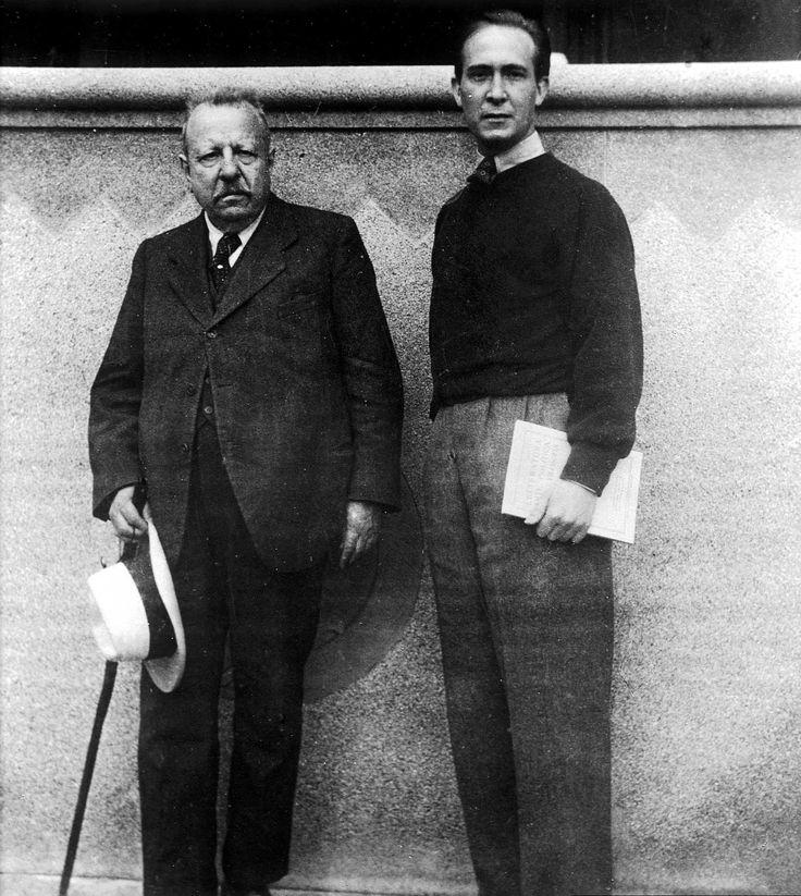 Benedetto Croce e Franco Antonicelli nella Villa di Sordevolo.
