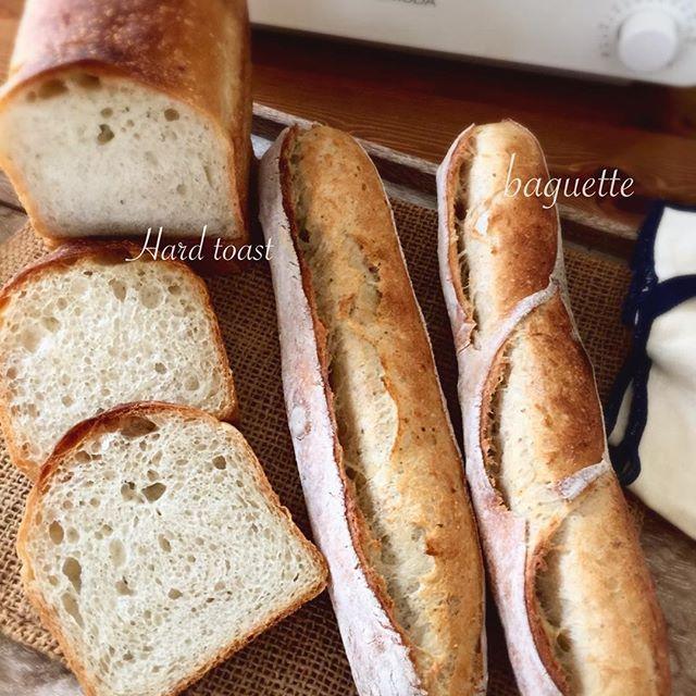2017/01/09 12:29:13 broad_beans_saeko ハードトーストレッスンで美味しくトーストを食べて貰いたくて買っちゃいました! #バルミューダ を😄 黒が良かったけど、我が家には白かな、と😊 バゲットは2月のレッスンで久しぶりにバゲットのレッスンをしようかと試作で焼きました😊 ・ ・ ・ #bread #baking #food #instafood #yummy  #homemade #instagood #Instagram  #naturalyeast  #hardtoast #baguette #パン教室  #おうちパン #手作りパン #自家製酵母 #新レーズン酵母 #ホップ種 #ハードトースト #バゲット  #今日は息子と電車旅