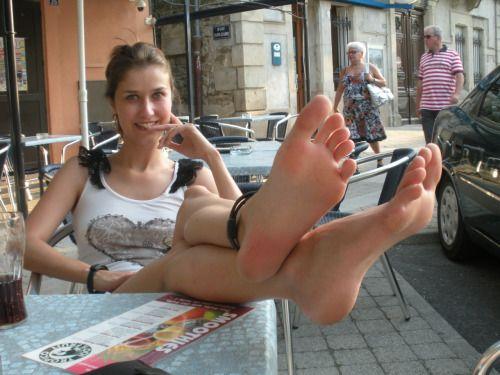Amazing candid nylon feet and soles 10