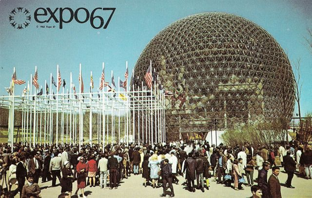 US Booth at 1967 World's Fair in Montreal.