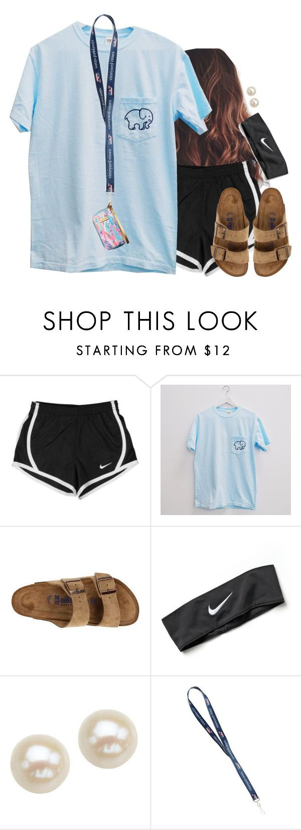"""""""Casual"""" by aweaver-2 on Polyvore featuring NIKE, Birkenstock, Honora and Lilly Pulitzer"""