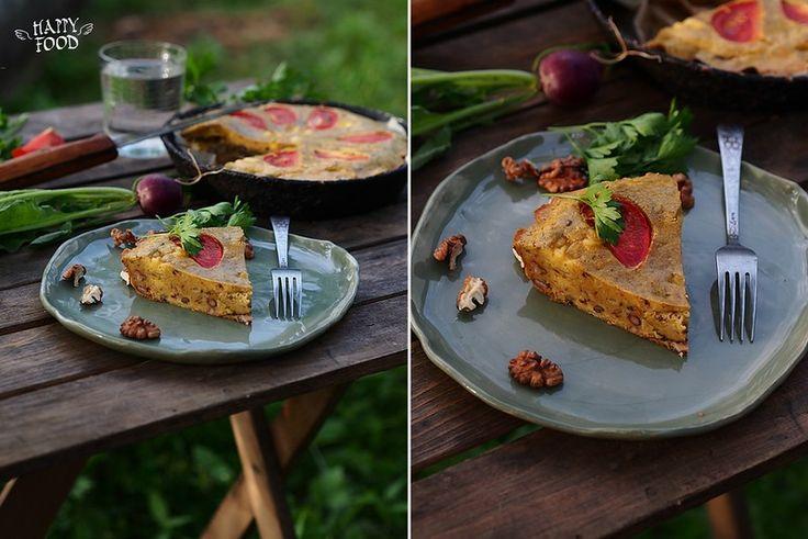 Добрый день, друзья! Сегодня вашему вниманию я предлагаю очень простой и вкусный пирог на тему клафути - закусочный - для пикника просто отличный вариант!…