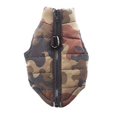 Kamouflage Style bomull stoppad Vest för husdjur Hundar (Blandade storlekar) - USD $ 11.42