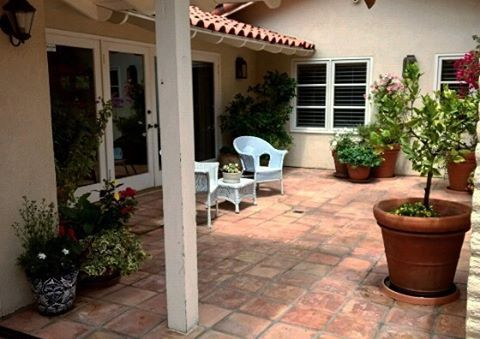 Gave this patio in #ranchosantafe a new look this past weekend.  All plants got a long over due trimming and fertilization, then planted some new #flowers  #garden #patio #courtyard #plants #citrus #ranchosantafelocals #sandiegoconnection #sdlocals #rsflocals - posted by Jerald Barcia  https://www.instagram.com/jeraldsoutdoorspaces. See more post on Rancho Santa Fe at http://ranchosantafelocals.com