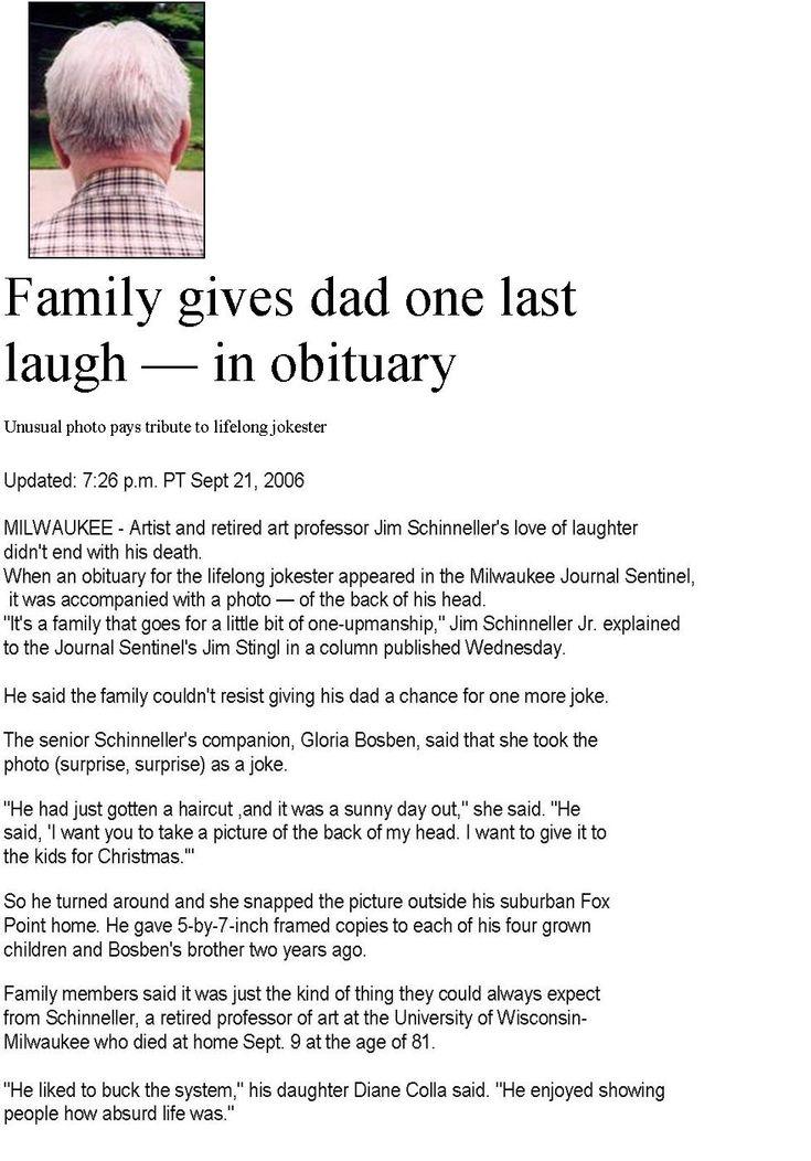 Obituary examples, sample obituary and creative obiutaries with - sample obituary