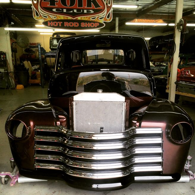 Front End Of 1953 Chevy Project Truck With Front