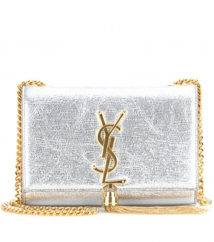 Saint Laurent - Metallic leather shoulder bag - mytheresa.com GmbH ...