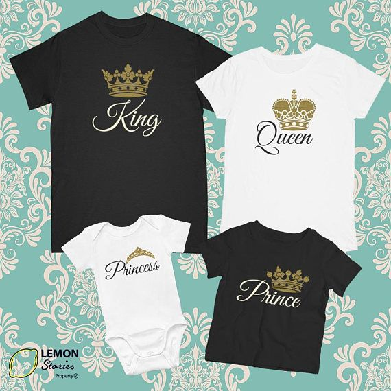 Any number Family T-shirts King Queen Prince Princess Price
