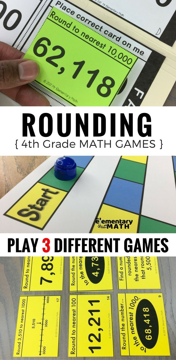 Rounding games for your 4th grade students are a fun alternative to worksheets. Check out these 3 math games that are great for your 4th grade math centers.