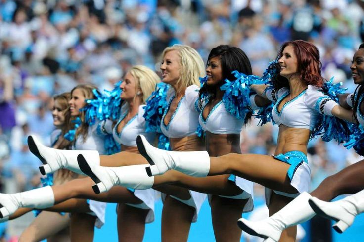Carolina Panthers cheerleaders perform in the second half of an NFL football game against the Minnesota Vikings in Charlotte, N.C., Sunday, Sept. 25, 2016. (AP Photo/Mike McCarn) Photo: Mike McCarn, Associated Press / FR34342 AP