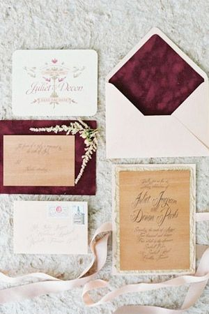 wedding invitation suite - brides of adelaide