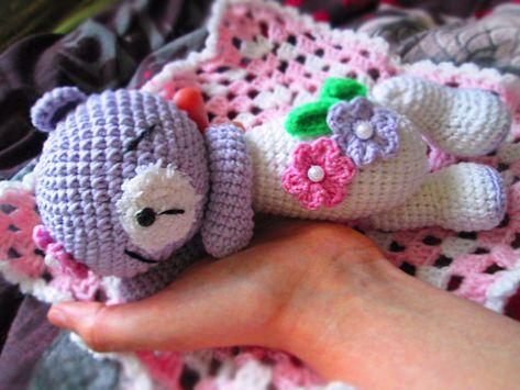 Sleeping teddy bear crochet pattern