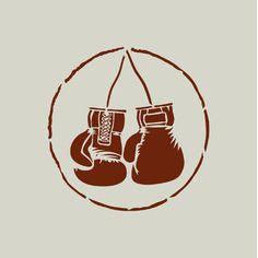 Pochoir boxe. pochoir gants de boxe (ref 488)