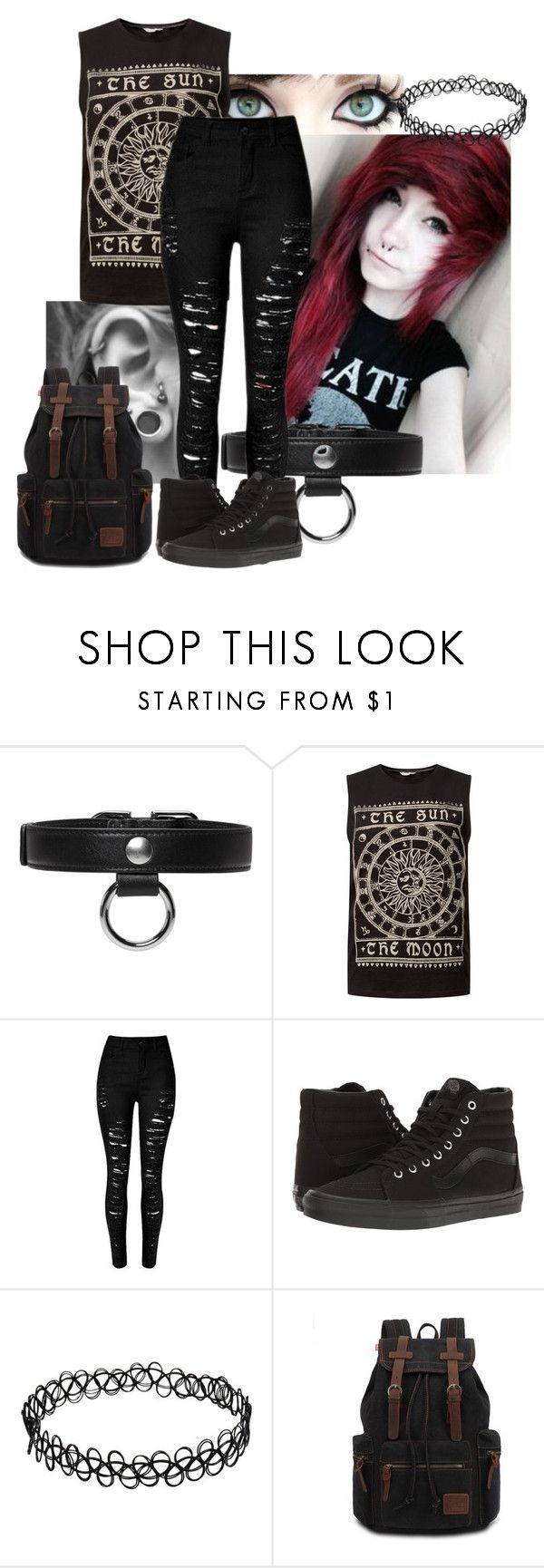 """The Sun and the Moon"" by abipatterson ❤ liked on Polyvore featuring Albino, Carven and Vans"