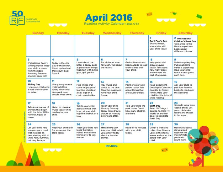 April Reading Calendar : Best reading is fundamental resources images on