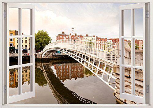 "Bomba-Deal 3D Dublin Ireland Vinyl Art Decal Stickers Dining Room Decals Murals 19.6"" x 27"" Bomba-Deal http://www.amazon.com/dp/B00OHYN94O/ref=cm_sw_r_pi_dp_OdFpub1HFMP0Q"