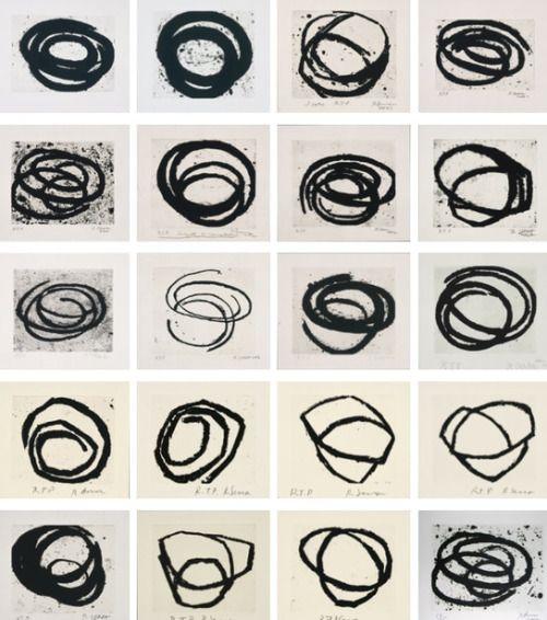 Richard Serra Venice Notebook, etching
