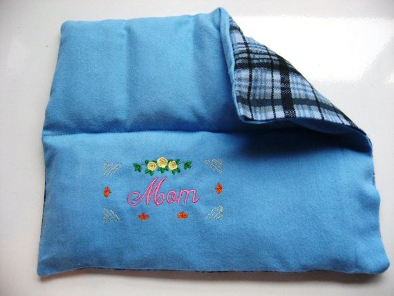 microwave heating pad cold pack custom embroidered for mom all natural eco