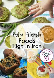 Baby Friendly Foods High in Iron - But there is good news! There are plenty of ways to introduce iron into you and your little one's meals. From crockpot sweet potato lentils to baby cereal pancakes; these foods will surely please even the pickiest of babies.