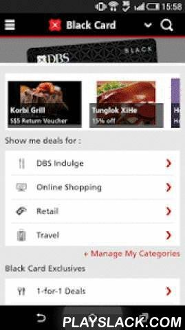 DBS Lifestyle  Android App - playslack.com ,  Celebrate great dining, shopping, online, travel deals and more. With the DBS Lifestyle App, and your DBS/POSB Credit or Debit Card, you are set to enjoy best deals at your fingertips. What's more, you can easily toggle and select your favourite card to browse & enjoy exclusive offers and redeem DBS Rewards. Exciting Features include:1. Instant Rewards Redemption - Simply redeem your DBS Points with mobile eVouchers to be used at most…