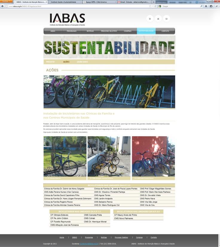 página ações