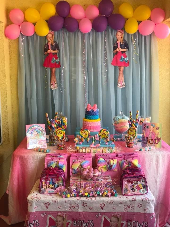 My Jojo Siwa Decor Sibling Birthday Parties 7th Party Ideas Kids Themes