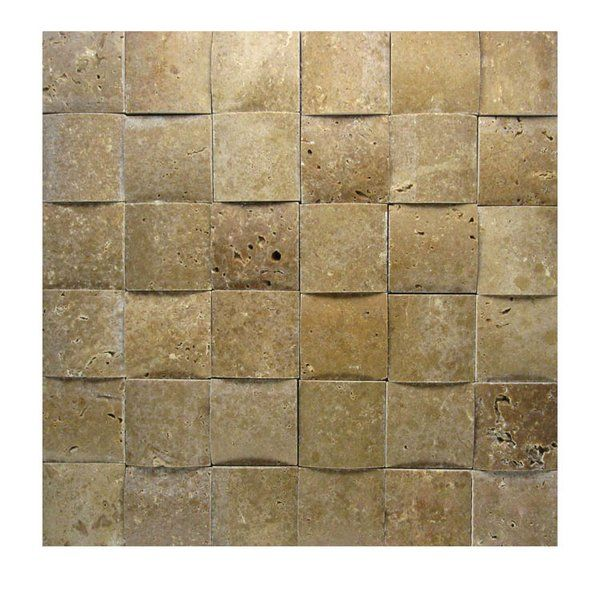 You 39 Ll Love The 3d Honed 2 Amp Quot X 2 Amp Quot Natural Stone Mosaic Tile In Noce At Wayfair Great Deals O Stone Mosaic Tile Stone Mosaic Mosaic Tiles