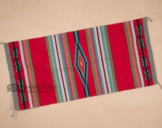"""Southwestern Old Style Saddle Blanket 32""""""""x64""""""""- Red (sb9)"""