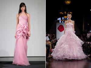 Gezien op de catwalk bij Fashion week, nog meer roze!